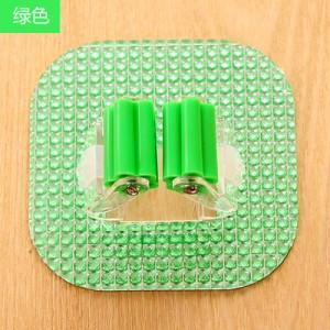 强力拖把夹 水晶可水洗无痕挂钩/粘钩 绿色