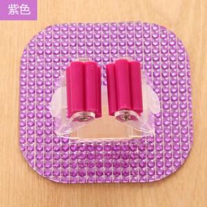 强力拖把夹 水晶可水洗无痕挂钩/粘钩 紫色