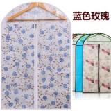 加厚印花西服防尘罩 衣服物防尘收纳袋 蓝玫瑰 3个规格
