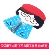 强力粘钩 韩版女孩卡通可水洗无痕挂钩 铁钩 蓝色眼镜   250个一盒   1000个一箱