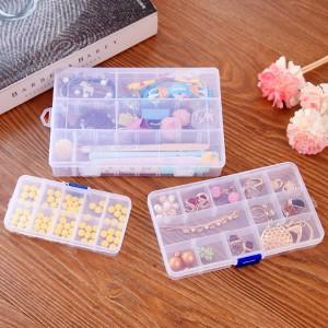 可拆分 DIY分类透明储物盒首饰盒整理盒药盒 特大号24格  96一件