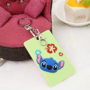 韩国可爱卡片包/钥匙扣立体公交卡套?史迪奇