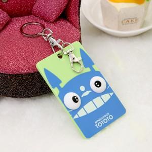韩国可爱卡片包/钥匙扣立体公交卡套-蓝色龙猫