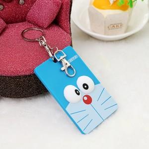 韩国可爱卡片包/钥匙扣立体公交卡套-蓝色猫