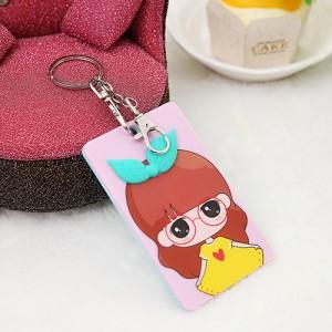 韩国可爱卡片包/钥匙扣立体公交卡套?蝴蝶结女生