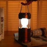 超亮LED太阳能灯 露营灯马灯应急灯(金色)