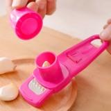 优质多功能厨房捻蒜盒压蒜器捣蒜器捻蒜器-玫红 240个/箱
