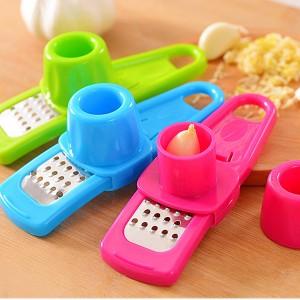 优质多功能厨房捻蒜盒压蒜器捣蒜器捻蒜器-蓝色 240个/箱