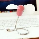 便携迷你USB电脑扭曲蛇形风扇 粉色