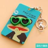 韩国可爱卡片包/钥匙扣立体公交卡套-蓝色大嘴猴
