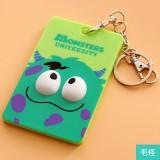 韩国可爱卡片包/钥匙扣立体公交卡套-绿毛怪