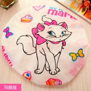可爱卡通洗澡浴帽/防水沐浴帽(白边)-玛丽猫