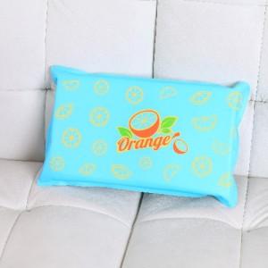 高档加海绵 夏天防暑降温午睡充水充气冰枕-橙子 30个/箱