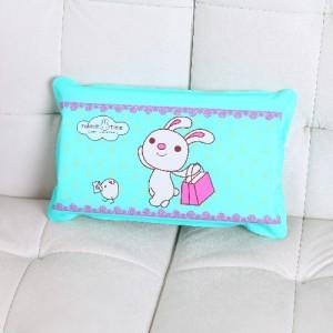 高档加海绵 夏天防暑降温午睡充水充气冰枕-拎包兔 30个/箱
