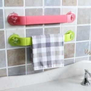 创意家居 炫彩可伸缩可旋转吸盘式角落架 卫浴用品毛巾挂架 绿色
