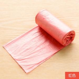 昊鑫居家炫彩垃圾袋 点断式加厚环保无异味塑料袋 20只 红色 200个/箱
