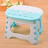 塑料可折叠凳子 浴室小板凳儿童成人户外便携式折叠椅 蓝色