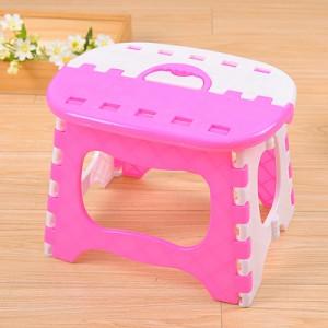 塑料可折叠凳子 浴室小板凳儿童成人户外便携式折叠椅 粉色  60一件