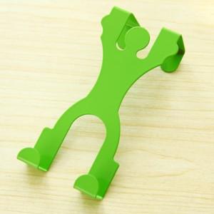 卡通人形门背式挂钩 创意无痕门后衣服挂架 男款绿色