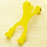 卡通人形门背式挂钩 创意无痕门后衣服挂架 男款黄色
