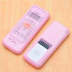 家居空调遥控器套 透明硅胶遥控器保护套 短款粉色