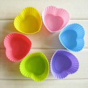 硅胶蛋糕模具 烘培模具 DIY 蛋糕杯 手工皂模具 心形 六个装