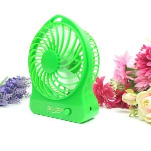 便携手持充电风扇 大风力小电扇 usb迷你风扇 绿色