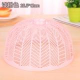 塑料防蝇防蚊迷你菜罩饭菜罩食物罩桌罩盖 实色粉 300个/箱