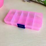 可拆分 DIY分类透明储物盒首饰盒整理盒药盒 中号10格 粉色  300一件