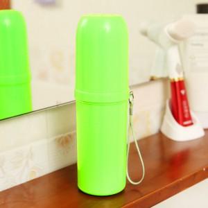 糖果色洗漱收纳筒/牙刷收纳盒/旅行便携漱口杯-实色绿 200个/箱