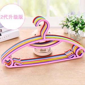 优质带夹彩虹防滑挂衣架2代 10个装 单个价0.44 多色 30捆/箱
