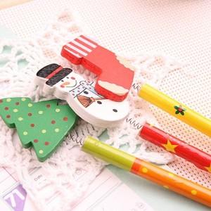 圣诞老人摇头铅笔(一包6只售)