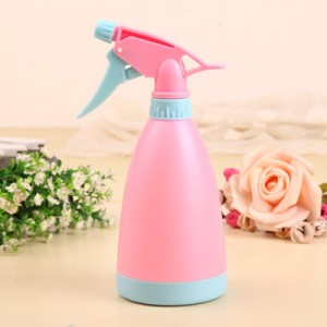 特惠款糖果色手压式可调节喷水壶 喷雾器 浇水壶 洒水壶-粉色 200个/箱