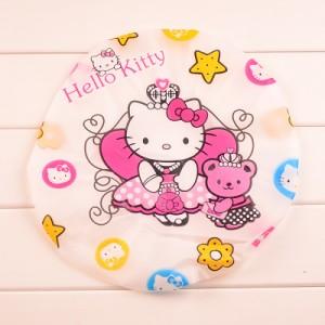 可爱卡通洗澡浴帽/防水沐浴帽(白边)-KT与小熊