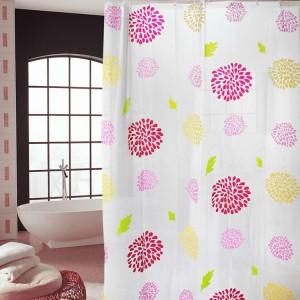 浴室防水防霉浴帘 加厚PEVA卫生间浴室帘 180*200cm  太阳花