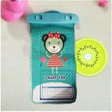 卡通手机防水袋  苹果手机漂流袋 漂流游泳防水包  绿色小熊