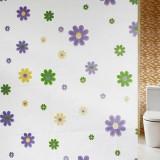 浴室防水防霉浴帘 加厚PEVA卫生间浴室帘 180*200cm  紫色花
