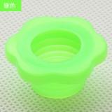 下水管防臭密封圈 硅胶 卫生间下水道地漏密封圈 梅花绿色 600个/箱
