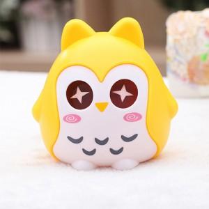 儿童储蓄罐 可爱卡通猫头鹰存钱罐时尚创意摆件 黄色