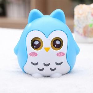儿童储蓄罐 可爱卡通猫头鹰存钱罐时尚创意摆件 蓝色