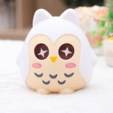 儿童储蓄罐 可爱卡通猫头鹰存钱罐时尚创意摆件 白色