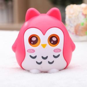 儿童储蓄罐 可爱卡通猫头鹰存钱罐时尚创意摆件 红色
