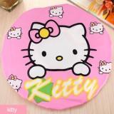 可爱卡通洗澡浴帽/防水沐浴帽(花边)-kitty