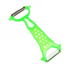 双头水果削皮器 便携旅游去皮器 削皮刀 刮皮刀 多功能刨刀 绿色
