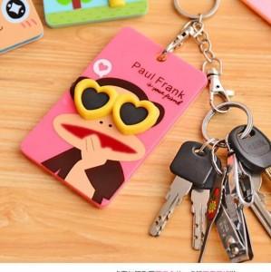 韩国可爱卡片包/钥匙扣立体公交卡套-粉色大嘴猴