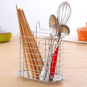 不锈钢筷子勺子筒 创意筷子笼多功能挂式筷子架筷子盒筷筒