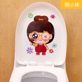 可爱卡通韩式彩色防水马桶贴 装饰贴纸 墙贴 萌小M