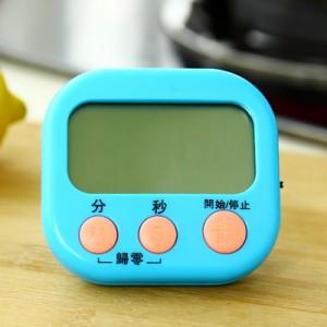 大屏厨房定时器 提醒器 正倒计时闹钟 电子数显大屏 HX103 蓝色