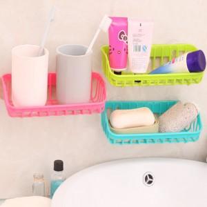 双吸盘厨房沥水篮置物架水槽多功能洗碗海绵收纳架 200个/箱