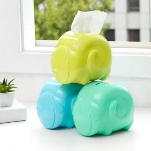 创意卡通桌面羊咩咩纸巾抽 客厅卧室抽纸盒 收纳盒 蓝绿